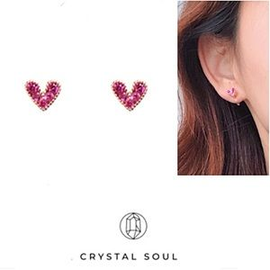Jewelry - ❤️❤️S925 Pink Heart Stud Earrings